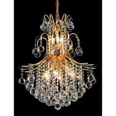 Toureg Gold Eleven-Light 22-Inch Chandelier with Royal Cut Clear Crystal bellacor.com $780