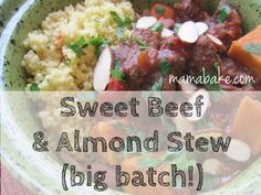 Sweet Beef and Almon