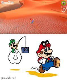 Mario Fan Art, Super Mario Art, Super Mario World, Mario Kart, Mario And Luigi, Video Games Funny, Funny Games, Captain America Toys, Pillow Drawing