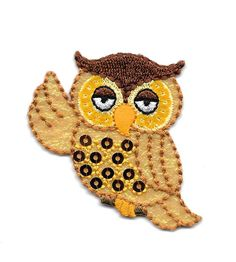 Owl - Bird - Forrest - Iridescent/Embroidered/Sequins Iron On Applique Patch #Unbranded