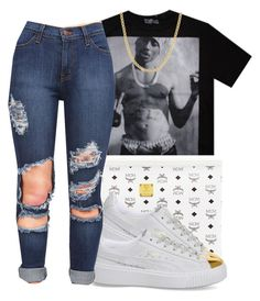 """"""""""" by eazybreezy305 ❤ liked on Polyvore featuring Fremada, MCM, Puma, cute, simpleoutfit and 2016"""