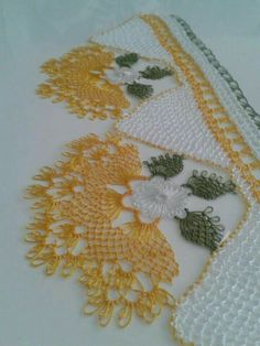 Needlework Lace Towel Edge Models, Needlework lover lovers, needlework l … Crochet Unique, Beautiful Crochet, Needle Lace, Bobbin Lace, Crochet Borders, Crochet Patterns, Cross Stitch Embroidery, Hand Embroidery, Lace Weave