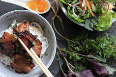 Bun Cha, Bucky, Good Food, Pork, Veggies, Meat, Ethnic Recipes, Vietnam, Asia