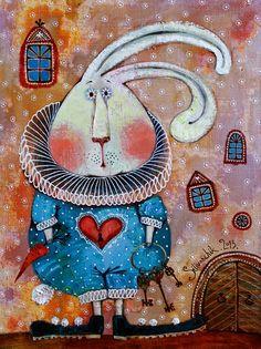 White Rabbit - Alice in Wonderland art <3 de Anna Silivonchik