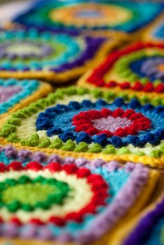 Colorful Crochet by MossyOwls, via Flickr