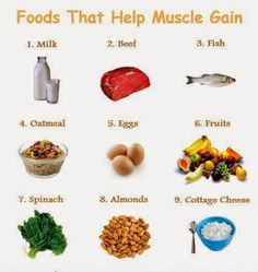 Muscle Food, Muscle Growth Diet, Food To Gain Muscle, Muscle Diet, Muscle Building Diet, Gaining Muscle, Muscle Mass, Muscle Gain Workout, Foods That Build Muscle