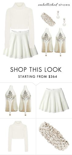 """Embellished Shoes"" by hideous ❤ liked on Polyvore featuring HARRIET WILDE, DKNY, Roberto Cavalli, Bulgari, Inner Circle Jewelry, contest, white, embellishedshoes and magicslippers"