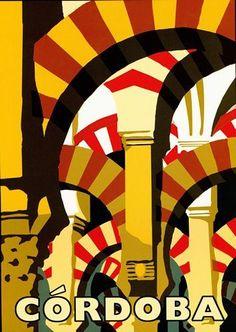 Vintage Cordoba Spain Tourism Poster