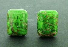 Jasper Sea Sediment Mens Cufflinks Beautiful Color Green 20 X15 MM