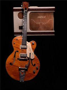 Gretch 6120 and Amp Guitar Musical Instrument, Musical Instruments, Guitar Amp, Cool Guitar, Acoustic Guitar Magazine, Rockabilly Music, Guitar Riffs, Guitar Collection, Tambourine