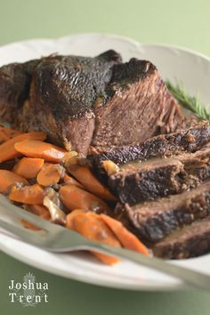 Bourbon Chuck Roast - This is an exceptionally tender way to braise chuck roast, which can be tough if cooked too fast. The bourbon and Dijon also make the gravy incredibly delicious.