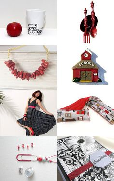 Back to School in Red by Marie on Etsy--Pinned with TreasuryPin.com
