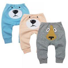 Gprince Pants Pajama Pants Boy Baby Girls Pants Casual Cotton PP Trousers Open-Seat Pants Harem Pants