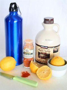 Master Cleanse Lemonade  2 tbsp. organic lemon juice (about 1/2 a lemon)  2 tbsp. of maple syrup  1/10 tsp. organic cayenne pepper powder  10 ounces of filtered water