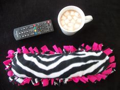 Zebra Print and Hot Pink Heat Therapy Rice Bag by TLCHandcrafted