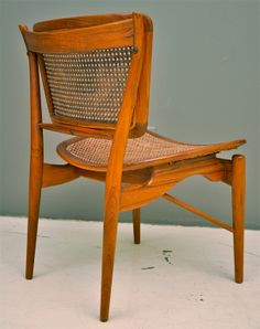 Finn Juhl; #FJ51 Teak and Cane Side Chair for Baker, 1951.