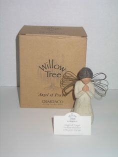 "Demdaco Willow Tree ""Angel of Prayer"" Signed & Dated # 26012 . Starting at $3"
