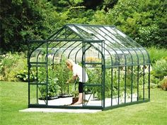 Want a green house like this.