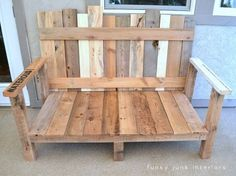 Outdoor bench from a pallet.