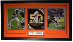 VON MILLER DENVER BRONCOS FRAMED SUPER BOWL 50 MVP ORANGE COLLAGE Water For Health, Football Memorabilia, Nfl Jerseys, Big Game, Denver Broncos, Nfl Football, Super Bowl, Bowls, Cool Pictures