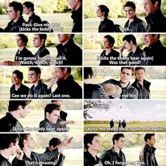 — [TVD season 6 bloopers] Someone requested me to post more TVD bloopers days ago, so here it is