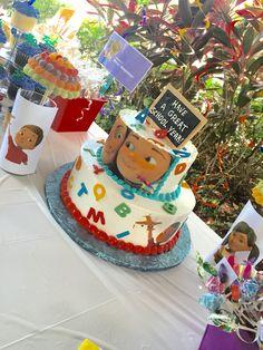 Caleb and Sophia cake
