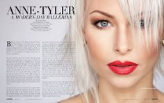 Anne Tyler: A Modern-Day Ballerina. Typography Layout, Ballerina, High Fashion, Lipstick, Culture, Magazine, Lifestyle, Day, Modern