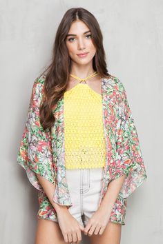 kimono estampado fiesta das flores | Dress to