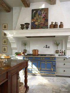 Kitchen Interior, Home Interior Design, Kitchen Decor, Kitchen Ideas, Parisian Kitchen, Country Kitchen, Style Deco, Dream Home Design, Küchen Design