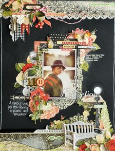 A layout by dt member Emma Trout  using Webster's Pages