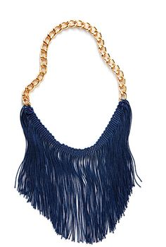 Easy fringe necklace