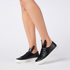 ALL EARS BLACK-WHITE - MINNA PARIKKA Minna Parikka Sneakers For Sale, Shoes Sneakers, Styles P, Smooth Leather, Oxford Shoes, Black And White, Ears, Loafers & Slip Ons, Black N White