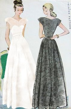 1950's dress designs, incredible silhouettes