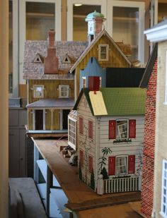 Dollhouses awaiting their makeovers