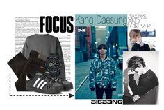 """Kang Daesung"" by epikhigh ❤ liked on Polyvore featuring Nudie Jeans Co., adidas, G-Shock, bigbang, kpop, yg, daesung and kangdaesung"