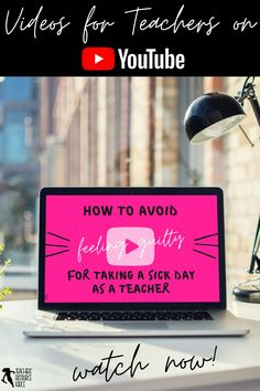 Teaching when sick is the worst! Are you ever tempted to push yourself to teach when you're feeling sick? It's time to stop feeling so guilty for a basic human need. If you suffer with the teacher guilt bug when taking a sick day, then this is video for you: watch this teacher video on YouTube right now! Teacher Video, Teacher Blogs, New Teachers, Teacher Hacks, Free Teaching Resources, Teacher Resources, Off Sick, School Direct, Its Time To Stop