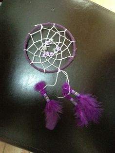 I made a dream catcher at my aunties house .