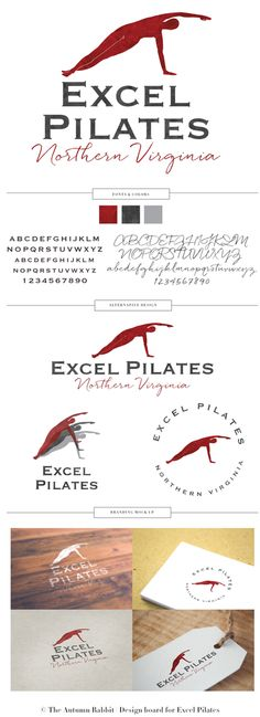 Excel Pilates Branding Board - Designed by The Autumn Rabbit