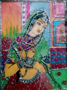 PRINTED GLASS PAINTING – Woman Painting and Decoration