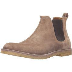 Vince Men's Sawyer Chelsea Boot ($242) ❤ liked on Polyvore featuring men's fashion, men's shoes, men's boots, mens suede boots, mens suede shoes and mens suede chelsea boots