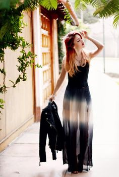 One tie-dye piece of your choice is a must. This ancient technique of dyeing has become extremely popular in the last few years. We love this simple but sexy sheer maxi.