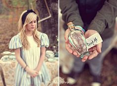 Alice in Wonderland inspired Engagement Photos by Hunter Leone: Drink Me