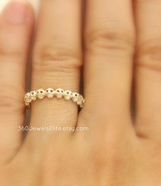Tiny Gothic Skull Eternity Stack Ring, Sterling Silver, Wedding Promise Anniversary Band, Customizable on Etsy, $95.00