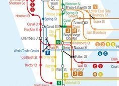 Papier peint original & décoration murale en édition limitée : Papier peint plan Métro de New York par Ohmywall the Wallpaper of New York subway City map
