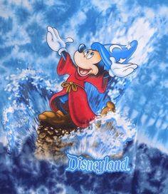 Mickey Mouse Sorcerer's Apprentice Fantasia Tie Dye