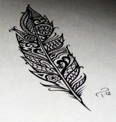 Mandala type looking feather