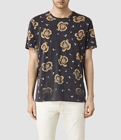 Mens Sumire Crew T-Shirt (Vintage Black) - product_image_alt_text_1