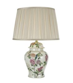 Peony Table Lamp Green Pink Base Only – LightingUK.com