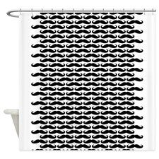 Mustache pattern Shower Curtain for
