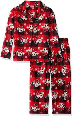 Disney Big Girls  Minnie Mouse  2-Piece Pajama Coat Set 34ea14a51